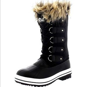 Fur Lace up Snow Boats